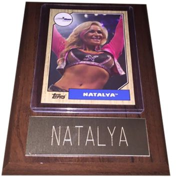 "Natalya 4"" x 6"" WWE Women's Wrestling Plaque"