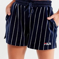 FILA Maryana Striped Velour Short | Urban Outfitters