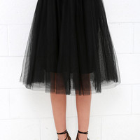 Urban Fairy Tale Black Tulle Skirt