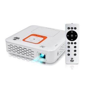 Smart Mini Portable Projector, Built-in Dual Core Android Computer, 1080p Support, Bluetooth, Wi-Fi, Rechargeable Battery, Touchpad, USB/SD Readers, Air-Mouse, Projects up to 120''