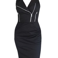 Women's Moto Dress by Switchblade Stiletto (Black)