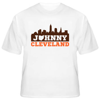 Unisex Johnny Cleveland Skyline Football T-Shirt