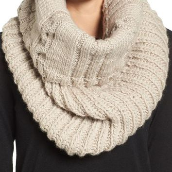 Nirvanna Designs Oversize Cable Knit Wool Infinity Scarf | Nordstrom