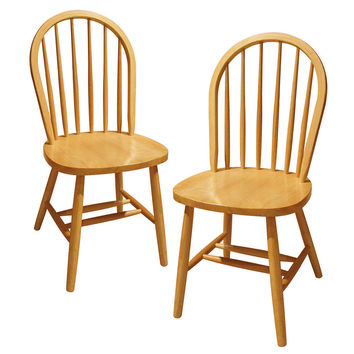 Set of Two Assembled Windsor Chairs by Winsome Woods