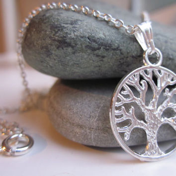 Tree of Life necklace, silver tree of life, silver necklace, UK Seller, jewellery UK