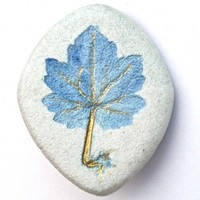 Handmade Jewelry - Blue Motherwort Pin | walkinthewoodsllc - Jewelry on ArtFire