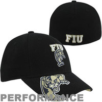 adidas FIU Panthers Mascot Visor Structured Performance Flex Hat - Black