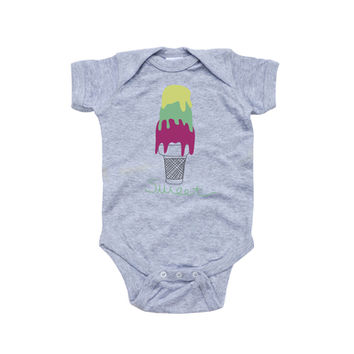 """Baby Soft Bodysuit With """"Sweet"""" Design With Ice Cream Cone Print"""