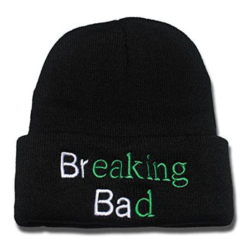 HAIHONG Breaking Bad Logo Beanie Fashion Unisex Embroidery Beanies Skullies Knitted Hats Skull Caps