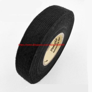 19mmx20m Universal Flannel fabric Cloth Tape automotive wiring harness flannelet glue high temperature tape