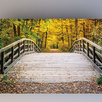 Fall Bridge - Photography Backdrop