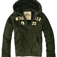 Hollister Sherpa Lined Heavy Weight Hoodie, Olive