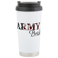 Army Bride Stainless Steel Travel Mug - Coffee, tea, soda, or pop....wedding-bound!