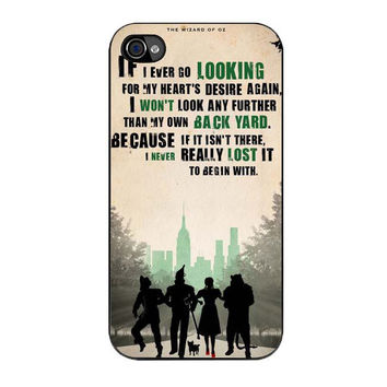 the wizard of oz poster movie quote iPhone 4 4s 5 5s 5c 6 6s plus cases