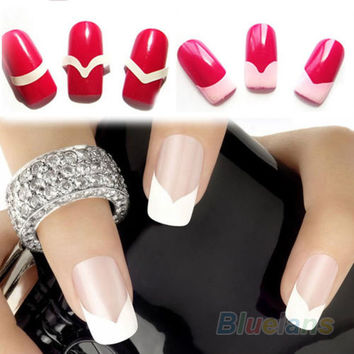 2 Packs Unique New Chic French Manicure Nail Art Salon Tips Tape Stickers Guide DIY Stencil Decorations