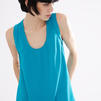Crepe Scoop Neck Top | Adolfo Dominguez shop online