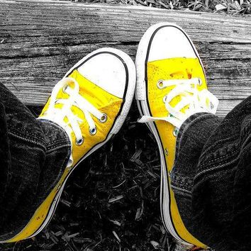 """Converse"" Fashion Canvas Flats Sneakers Sport Shoes Low tops Yellow"