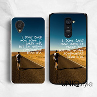 LG google plastic rubber back cover, life quote typo phone case for LG G2, Nexus 4, Nexus 5, man walking alone, E82