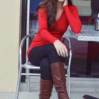 The Simple Life Sweater: Bright Red