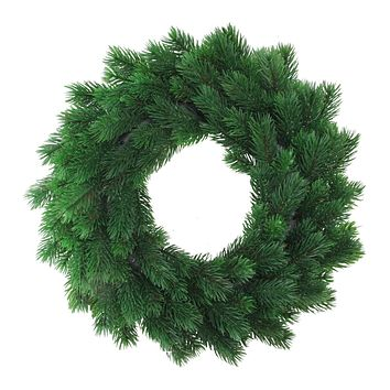 6' Sparkling Silver and Green Leaf  Artificial Christmas Garland