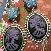 Butterfly Skull Earrings