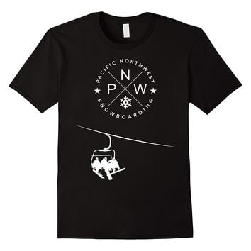 Pacific Northwest Snowboarding T Shirt - Winter Snow PNW Tee