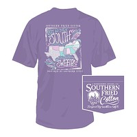 Sweet States Tee in Violet Sugar by Southern Fried Cotton