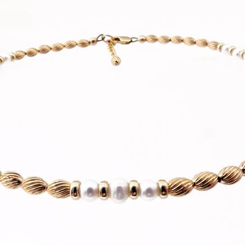 14k Gold-Filled White Pearl Anklet | Sincerety | Truth | Integrity Ankle Bracelet | Healing Crystals