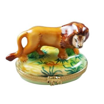 Lion Wild Rochard Limoges Box