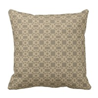 Geometric Shapes Chocolate color - Modern Design - Throw Pillow