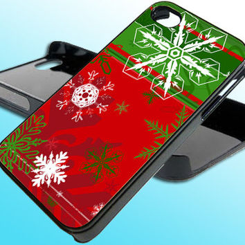 Christmas Snowflakes for iPhone 4/4s Case - iPhone 5 Case - Samsung S3 - Samsung S4 - Black - White (Option Please)