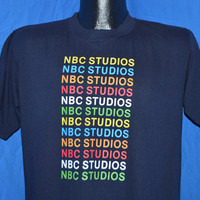 80s NBC Studios Rainbow t-shirt Large
