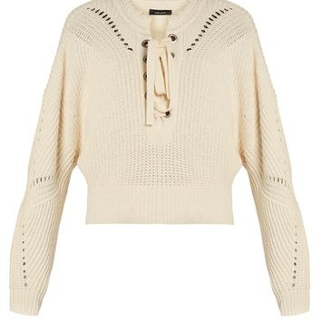 Laley lace-up cotton-blend sweater | Isabel Marant | MATCHESFASHION.COM UK