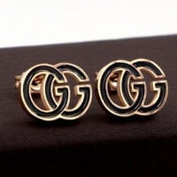 GUCCI Hot Sale Fashion Women Cute Double G Letter Earrings Accessories Jewelry