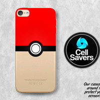 Valor Pokeball Clear iPod 5 Case iPod 6 Case iPod 5th Generation iPod 6th Generation Rubber Case Gen Clear Case Red Pokeball Pokemon Go