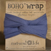 Dusty  Blue  Boho  Wrap  From  Natural  Life
