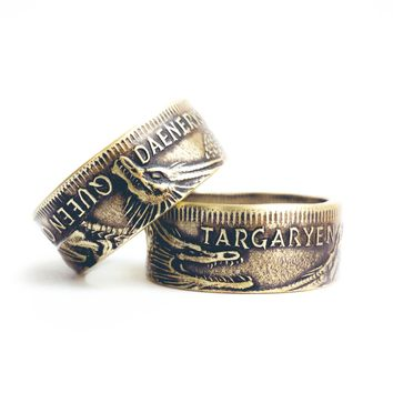 Game Of Thrones : Targaryen Coin Ring