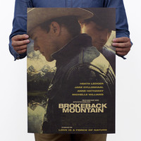 Brokeback Mountain Vintage Kraft Paper Classic Movie Poster Home Decor Wall Decal Art Removable Retro Painting