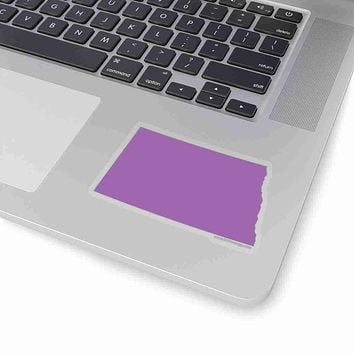 North Dakota State Shape Sticker PURPLE