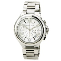 Michael Kors MK5719 Womens Camille Cream Dial Chronograph Stainless Steel Watch