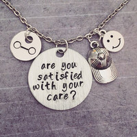 Are You Satisfied With Your Care Necklace - Fist Bump BH6 Jewelry - Healthcare Companion Jewelry - Fandom Necklace