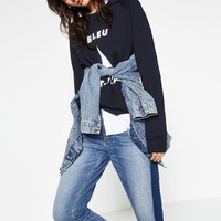 RELAXED FIT MID - RISE JEANS-Cropped-JEANS-WOMAN | ZARA United States
