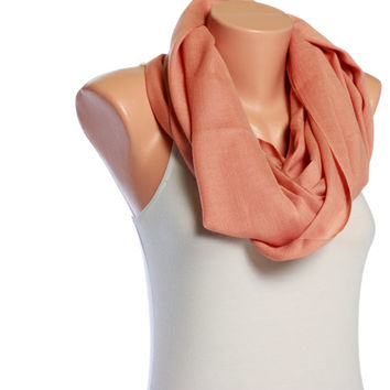 Infinity scarf shawl scarf cotton scarf pink pashmina scarf pashmina shawl Spring scarf Summer scarves Womens Scarves Gift Ideas For her