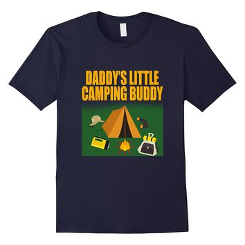 Father's Day Daddy's Little Camping Buddy Son Family T Shirt