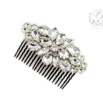 Wedding Hair Comb Rhinestone Bridal hair comb hair accessory Wedding Silver tiara Bridal Hair Comb Wedding Accessory