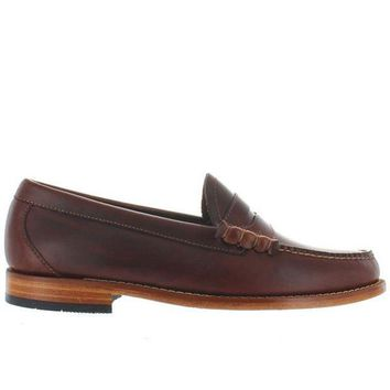 ONETOW Bass Weejuns Larson - Seahorse Brown Leather Classic Penny Loafer