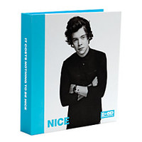 One Direction Limited Edition 1D OD Together Round Ring Binder Harry Nice Sky Blue by Office Depot