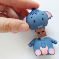SALE 20-80%: Cute 16gb usb flash drive  A cute little pink and blue elephant USB flash drive.
