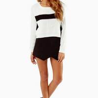 Center Stripe Knit Sweater $36