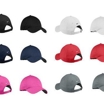 NEW NIKE-UNSTRUCTURED - SWOOSH ON BACK- GOLF-BASEBALL-TENNIS-HAT-CAP-DAD-HATS